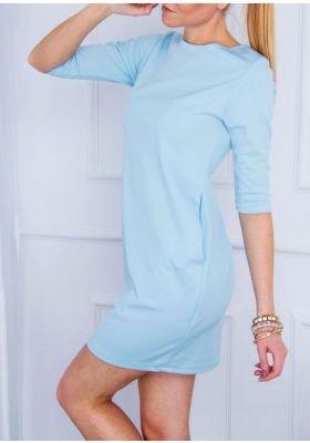 Pastelowa sukienka z kieszeniami XL+