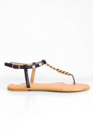 Sandałki japonki z paskiem